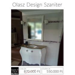 Modern barokk mosdó egyedi tükörrel B17011
