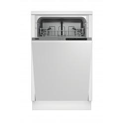 BEKO DIS15011 beépíthető keskeny mosogatógép, 10 teríték, A+ energiaosztály, 5 program