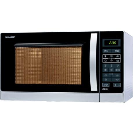 SHARP R642INW Grilles mikrohullámú sütő, 20 liter, 800 Watt