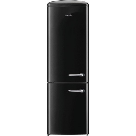 GORENJE ONRK193BK-L Retro kombi hűtő, A+++ energiaosztály, NoFrost (jegesedésmentes)
