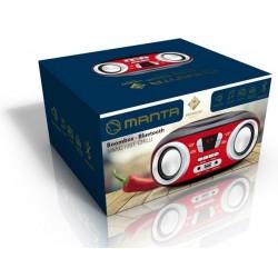 MANTA MM9210BT Chilli Bluetooth, rádió, és MP3 lejátszó fekete-piros - Premium