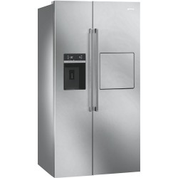 SMEG SBS63X2PEDH Side by side hűtő, 368/176 liter, A++ energiaosztály, No Frost