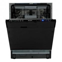 SHARP QW-D531443X-EU Beépíthető mosogatógép, 15 teríték, A+++ energiaosztály