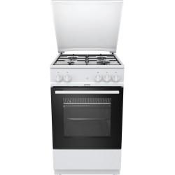 GORENJE G5111WH Gáztűzhely, 4 égős, 70 liter sütőtér, fehér színben