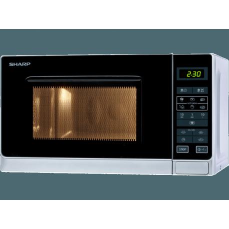 SHARP R242INW mikrohullámú sütő, 20 liter kapacitás, 800 watt teljesítmény