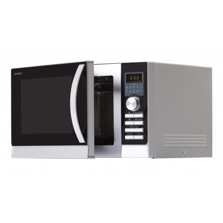 SHARP R843INW Légkeveréses mikrohullámú sütő, 25 liter, 900 Watt, Grill funkció