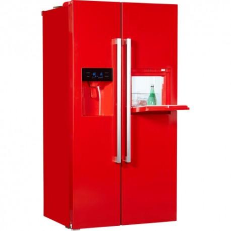 HANSEATIC HSBS17990WEHA2R Piros Side by Side hűtőszekrény