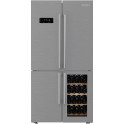 ELEKTRA BREGENZ SBSQ 47060 X Side by side hűtő, 446/73/30 liter, Bor tárolási zóna, NoFrost