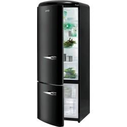 GORENJE RK60319OBK fekete retro kombi hűtő, A++ energiaosztály