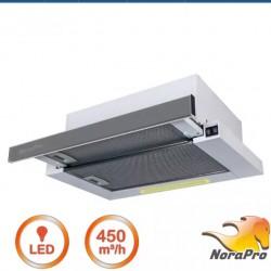NORA PRO F3 FRONT INOX 60 Beépíthető, kihúzható páraelszívó