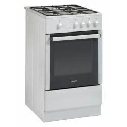GORENJE GI52108AW gáztűzhely, 4 égős, 46 liter sütőtér, fehér színben