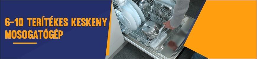 6-10 terítékes keskeny mosogatógép